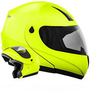 ATO MOTO K71 Neon Klapphelm Motorradhelm Integralhelm ECE 2205 Flip Up Helm Gelb