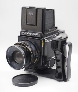 Mamiya RB67 Pro with Sekor 90mm f3.8 Lens,120 Film Back, handle, case & boxes