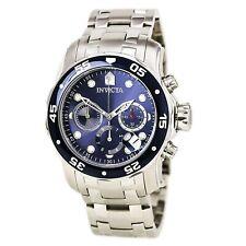 Invicta Men's Watch Pro Diver Blue and Silver Tone Dial Chrono Bracelet 0070