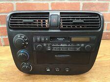 01-05 HONDA CIVIC BEZEL RADIO CLIMATE CONTROL AC A/C HEATER DASH VENTS BLACK