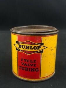 DUNLOP TYRES CYCLE VALVE TUBING TIN CAN
