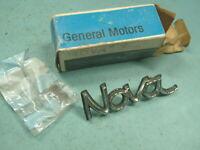 NOS GM OEM 1973 1974 CHEVROLET NOVA FRONT FENDER EMBLEM 73 74 CHEVY RH LH SS