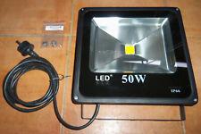 Foco proyector LED 50 W exterior 3500 ºK (Blanco Calido) 4500 Lumenes 240V ELA