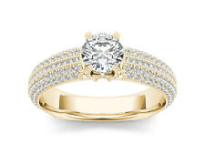 14k Yellow Gold 1.50 Ct Diamond Classic Solitaire Engagement Ring