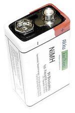 NEU 9 Volt / 310mAh Akku Block Blockbatterie zum Aufladen Marke H2OLE