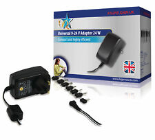 Universal AC Power Adapter 9.0 / 12 / 13.5 / 15 / 18 / 20 / 24 VDC 1.0 A - 1.5 A