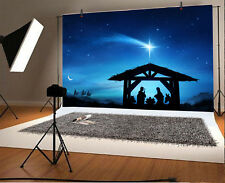 Nativity Scene Holy Family In Stable Photo Backdrop 10x6.5ft Background Props
