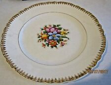 W. S. George. Radisson  plate with gold trim and needlepoint floral design b24