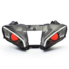 KT HID Headlight Assembly for Yamaha R6 2008-2016 LED Angel Eye Projector Kit