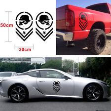 2x Black DIY Truck SUV Car Bed Side Stripe Vinyl Decal Skull Decoration Sticker