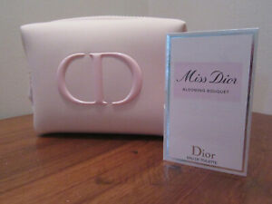 CHRISTIAN DIOR COSMETIC MAKEUP BAG WITH MISS DIOR SAMPLE