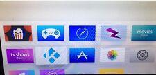 LOADED JAILBR0KEN APPLE TV 4th GEN 64GB. K0DI 17.1, SAFARI, BONUS HDMI CABLE.