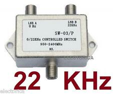 NEW SW22 22KHZ 2X1 SATELLITE LNB MULTI-SWITCH FTA 22 Khz TONE 22K  BURST HD