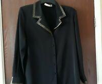 Jacques vert ladies black blouse size 14