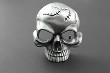 3D SHORT SKULL BELT BUCKLE METAL
