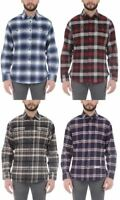 Jachs Men's Brawny Flannel Shirt, Long Sleeve, Cotton, Select Color & Size