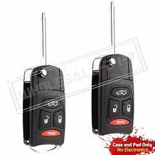 2 Replacement For 2005 2006 2007 Chrysler 300 Flip Key Case