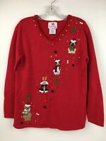 Quacker Factory Dog Poodle Pug Terrier Labrador Christmas Ugly Tacky Sweater XS