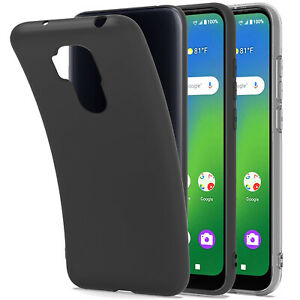 For Cricket Influence / AT&T Maestro Plus Case Slim Soft Cover +2XTempered Glass