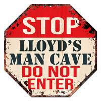 OTGM-0160 STOP LLOYD'S MAN CAVE Tin Rustic Sign Man Cave Decor Gift Ideas