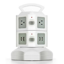 Power Strip with USB Surge Protector 6 Outlet 4 USB Port Charger Charging Tower