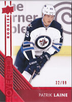 16-17 Upper Deck Overtime Patrik Laine /99 Rookie RED Parallel Jets 2016