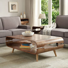 Jual Furnishings JF703 Retro Coffee Table With Spindle Legs - Walnut & Ash