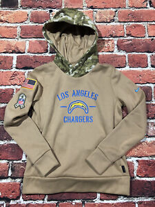 Womens Authentic LA Chargers Nike Salute Service Pullover Hoodie Sweater Small