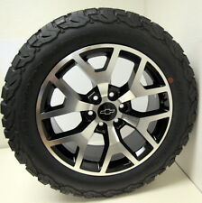 "NEW  Black & Machine 20"" Chevy Z71 Silverado 1500 Wheels BF GOODRICH Tires"