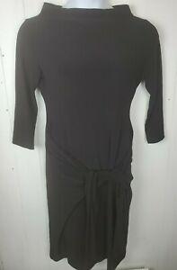 Norma Kamali Everlast Dress 3/4 Sleeve Tie Waist