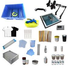 Full Set Screen Printing Press Materials Kit Start Hobby Consumable w/ Exposure