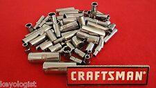 """CRAFTSMAN Socket Set 1/4"""" drive SAE MM STD and DEEP 6pt 12pt 64pc LASER ETCHED"""