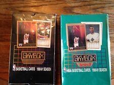 2 BOX  LOT 1990 SKYBOX SERIES 1 & 2 JORDAN ON FRONT 36 PACKS PER 540 CDS /BOX