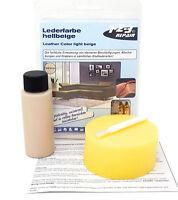 123Repair Lederfarbe beige, Leder färben Lederfärbemittel Einziehfarbe, RAL 1015