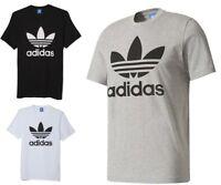 New Men's Adidas Original Authentic Trefoil Logo Tee Shirt T-Shirt Crew Neck