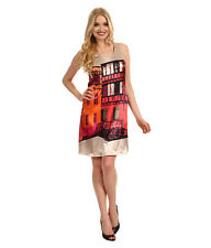 MUSE Gorgeous Shift French City Scape Town Printed A-Line Dress NWT 14 $159