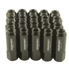 JDMSPEED 20PC 12X1.25MM 60MM EXTENDED FORGED ALUMINUM TUNER RACING LUG NUT BLACK