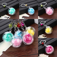 Romantic Lover Gift Rose Flower Keyring Charm Pendant Car Bag Key Chain Ring