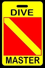 Safety Yellow DIVE MASTER SCUBA Diving Luggage/Gear Bag Tag - New