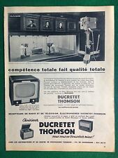 AM84 Pubblicità Advertising Clipping 35x26 cm (1954) DUCRETET THOMSON TV RADIO