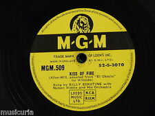 78rpm BILLY ECKSTEIN kiss of fire [ el choclo / someone to watch over me