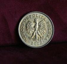Poland 2 Grosze 2002 Brass World Coin Y277 Polska Eagle with Wings Polish Europe