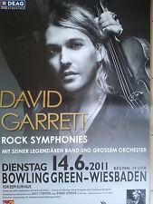 DAVID GARRETT  2011 WIESBADEN  orig. Concert - Poster 118 x 84 cm  SONDERGRÖSSE