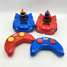Little Tikes Red and Blue Crash Remote Control Cars and Remotes - WORKS!