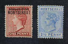 CKStamps: GB Montserrat Stamps Collection Scott#6 Unused NG #8 Mint H OG