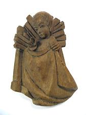 Vieille Jésus crèches personnage Bergmann oberammergauer sculpture carved wood