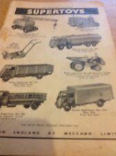Ephemera Advert 1951 Dinky Meccano Supertoys New Lorries