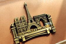 France Paris Landmarks Tourist Travel Souvenir 3D Metal Refrigerator Magnet