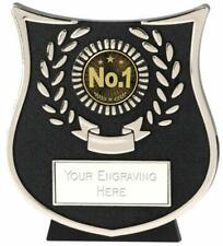 Emblems-Gifts Curve Silver No 1 Trophy With Free Engraving