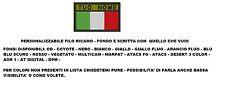 Patch toppa ITALIA ESERCITO VELCR. TERMOSALDABILE  toppe bandiera PERSONALIZZATA